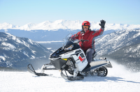 White Mountain Snowmobile Tours in South of Copper Mountain, CO