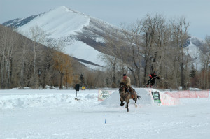 Ski Joring Rider And Jumper